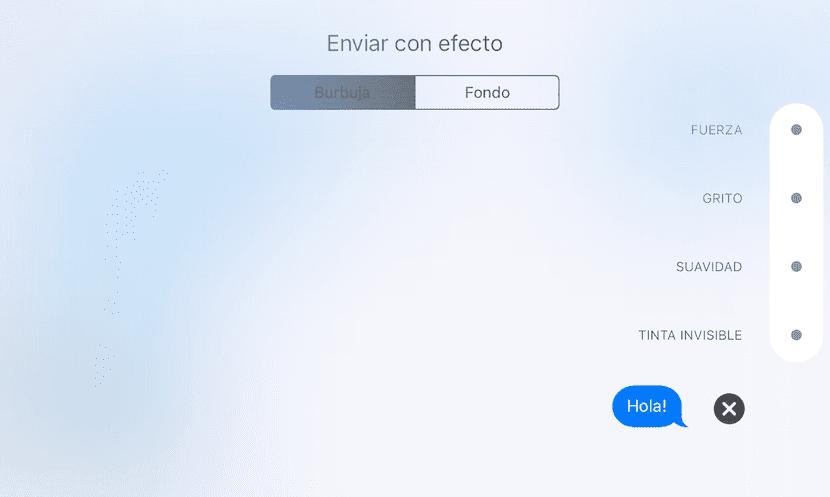 Efectos en Mensajes de iOS 10