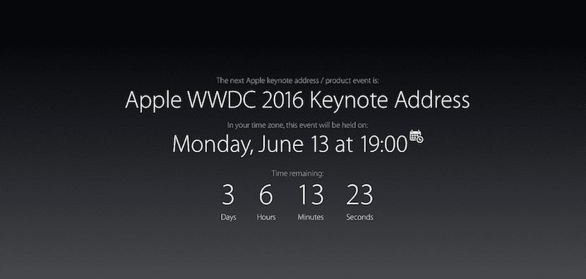 Hora de la WWDC 2016