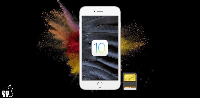 iOS 10 ofrece más almacenamiento