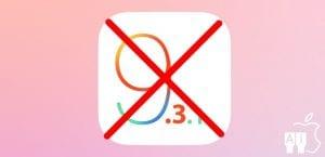 iOS 9.3.1 ya no se firma