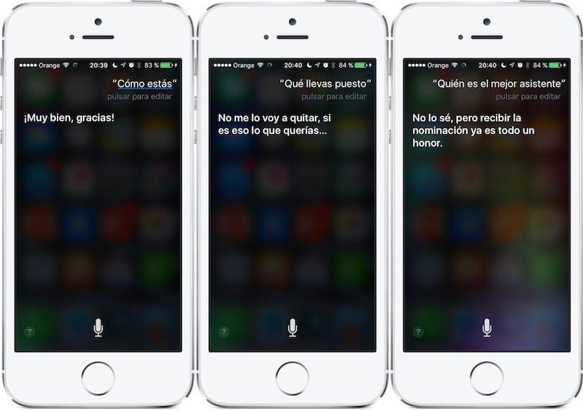 Preguntas a Siri