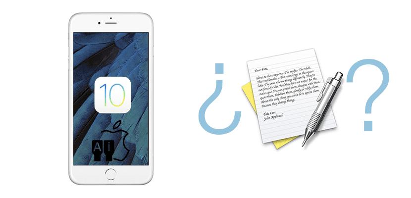 TextEdit en iOS 10