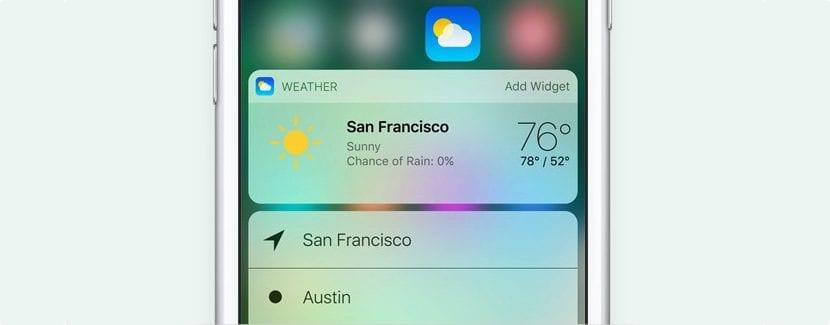 Widgets en iOS 10