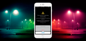 Aviso de conector Lightning mojado de iOS 10