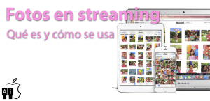 Qué es Fotos en streaming