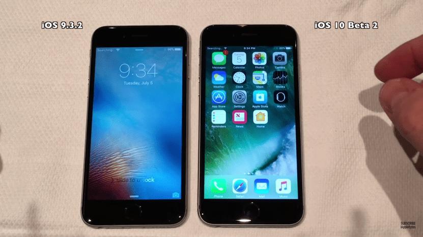 Test velocidad iOS 9.3.2 y iOS 9.3.2