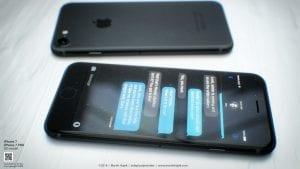 iPhone 7 negro, concepto