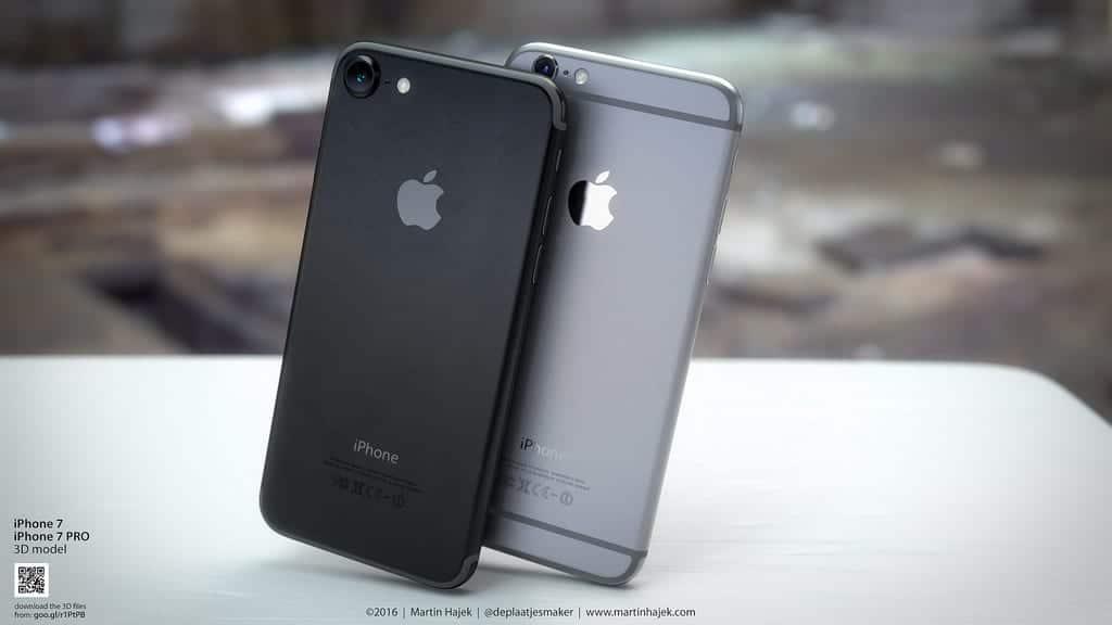 Concepto de iPhone 7 negro