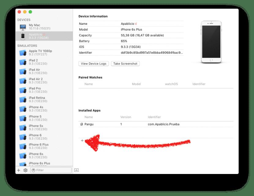 instalar ipa xcode