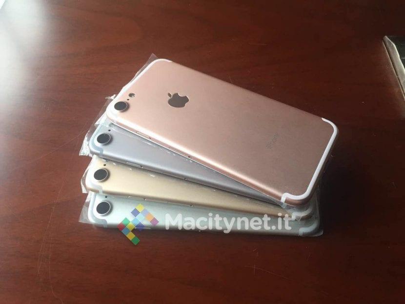 Modelos de exposición del iPhone 7