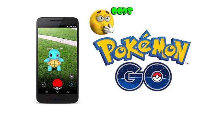 Errores habituales en Pokémon GO