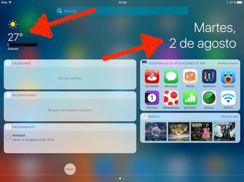 Centro de Notificaciones de iOS 10 beta 4