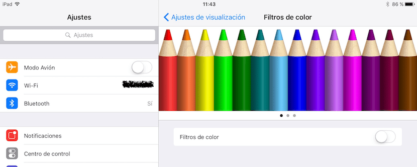 Filtros de color en iOs 10