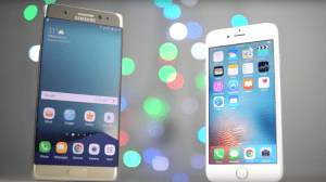Galaxy Note 7 vs. iPhone 6s