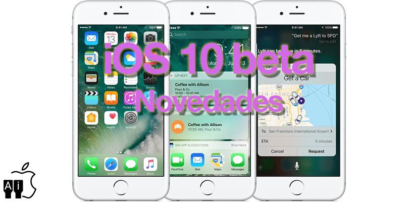 Novedades iOS 10 beta