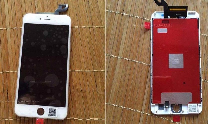 Panel delantero montado del iPhone 6s