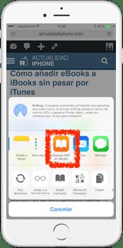 Pasar web a iBooks