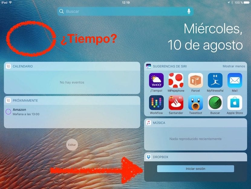 Widgets negros iOS 10