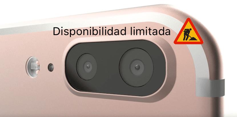 Disponibilidad limitada del iPhone 7 plus