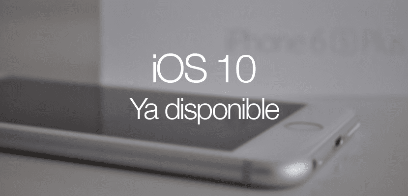 iOS 10 ya disponible