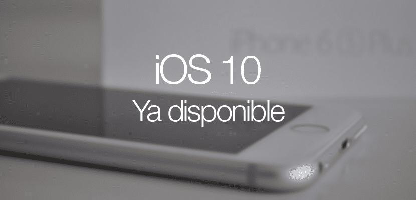iOS 10 ya disponible