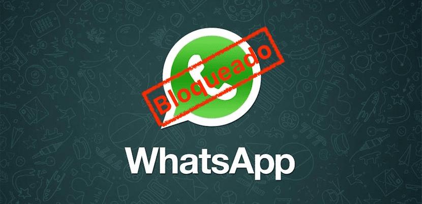 Bloqueado en WhatsApp