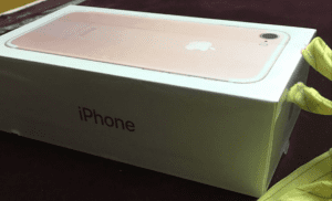 Caja iPhone 7 en oro rosa