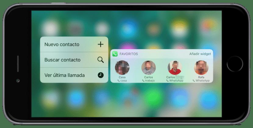 Contactos favoritos en iOS 10