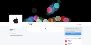 Cuenta de Twitter oficial de Apple