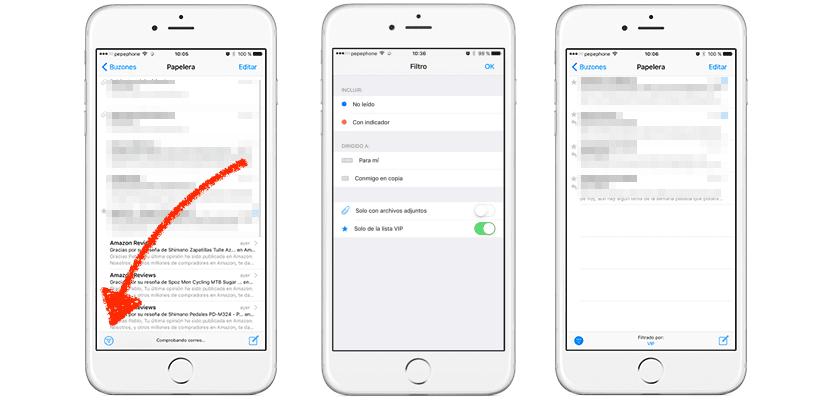 Filtros en Mail de iOS 10