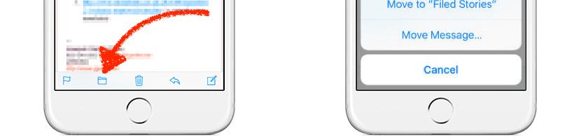 Mover a carpeta en Mail de iOS 10