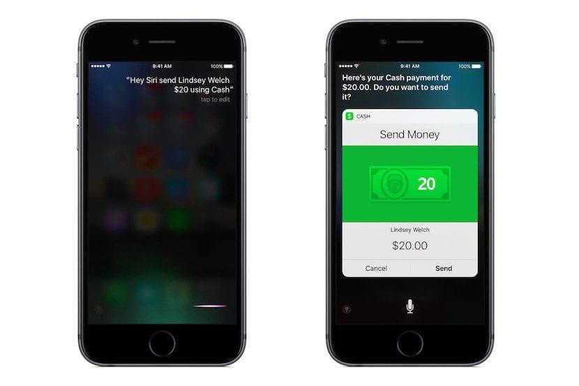 Siri y Cash en iOS 10