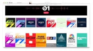 Nuevas carátulas en emisoras de Apple Music
