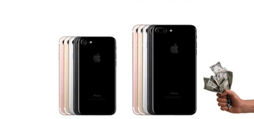 iPhone 7 y dinero