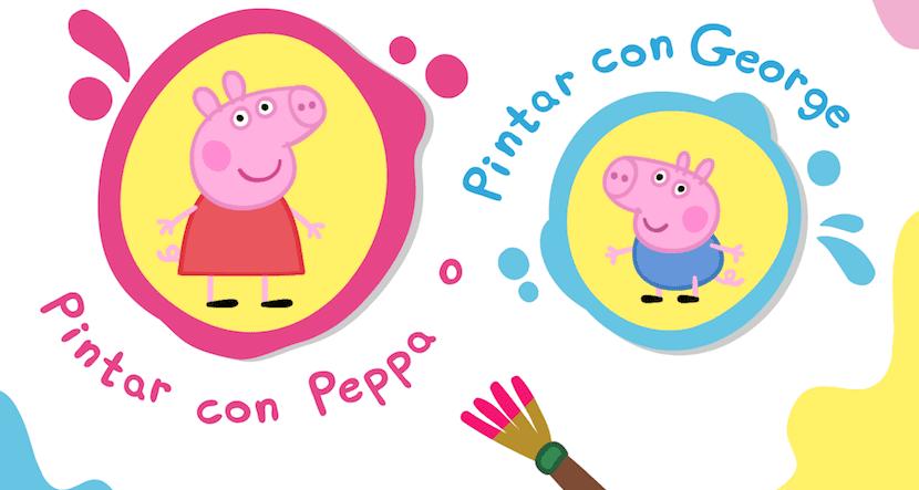 Pinta Con Peppa Pig Y George Con Esta App Gratuita Para Los