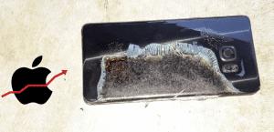 Acciones de Apple suben ante los problemas del Note 7