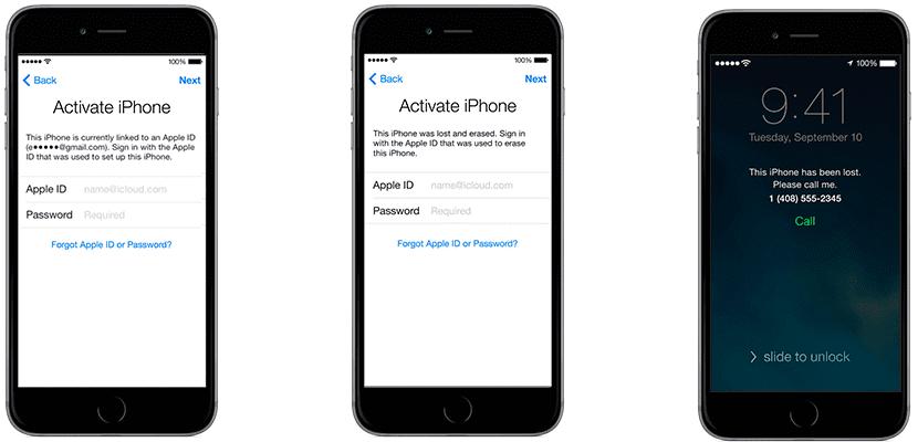 Bloqueo de activación del iPhone