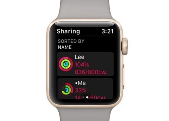 Apple Watch compartir actividad