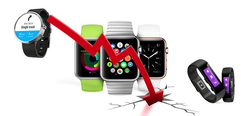 Caen ventas de relojes inteligentes