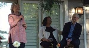Tim Cook con Hillary Clinton