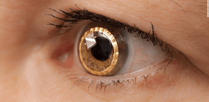 Concepto de lentilla inteligente