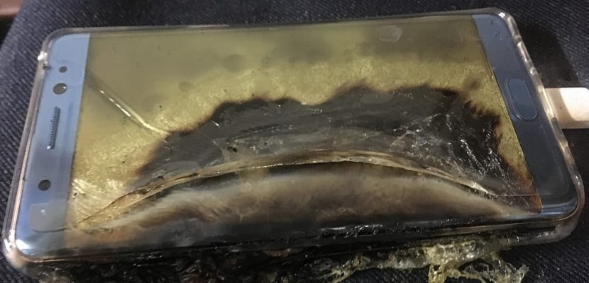 Galaxy note 7 incendiado