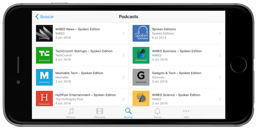 Podcasts Spoken Edition