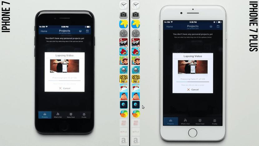 Prueba 3G de RAM del iPhone 7 Plus