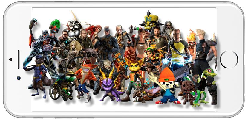 Personajes de Sony en iOS