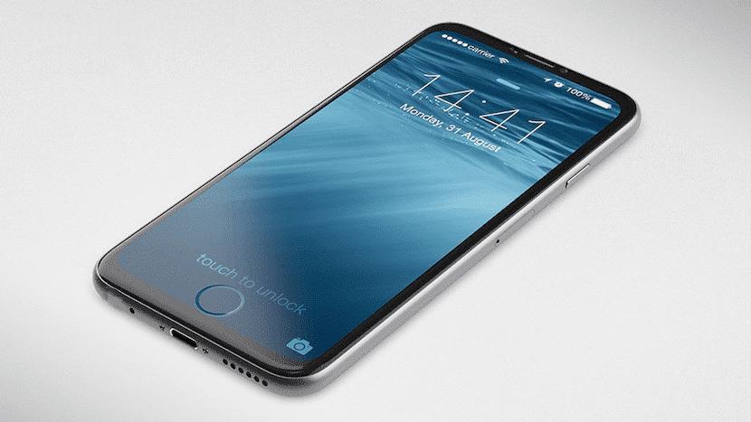 Concepto iPhone con Touch ID en Pantalla