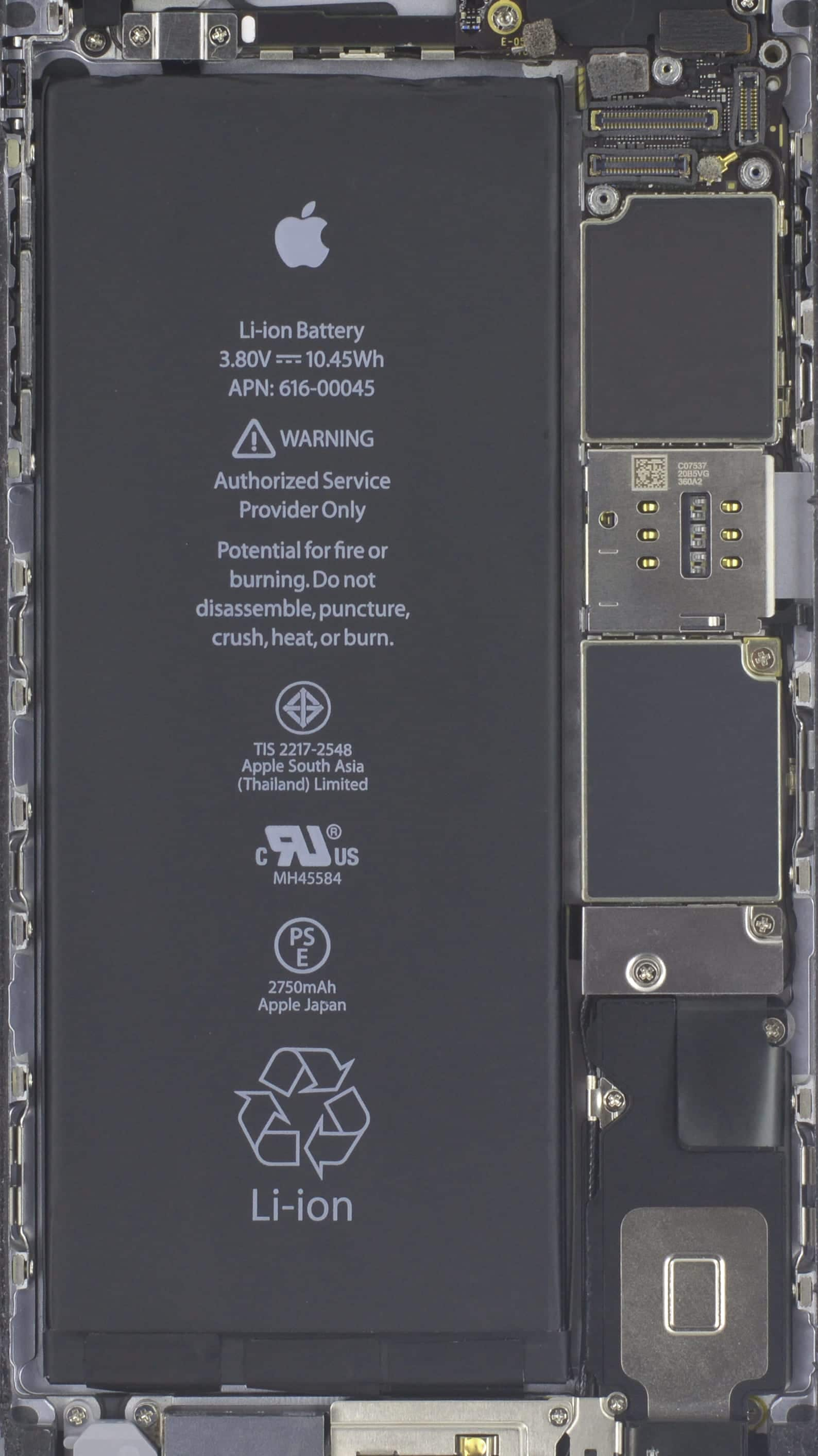 Cambia el fondo de tu iphone 7 para ver el hardware interior for Interior iphone 6
