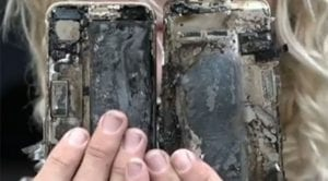 iPhone 7 incendiado
