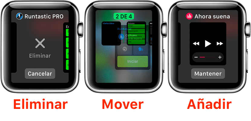 Gestionar Dock del Apple Watch