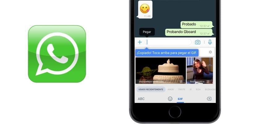GBoard en WhatsApp
